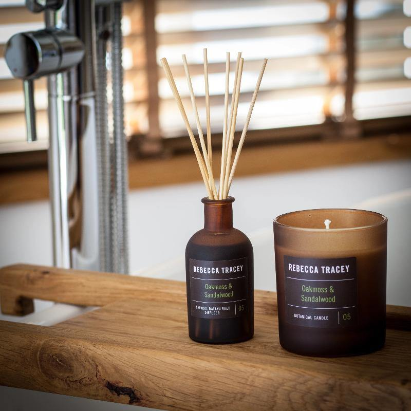Rebecca Tracey Oakmoss & Sandalwood Candle - Joal Interiors