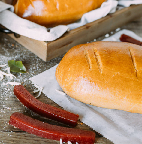 Bread Stuffed With Cheese and Guava