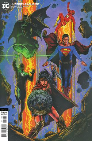 JUSTICE LEAGUE #50 CVR B TRAVIS CHAREST VAR