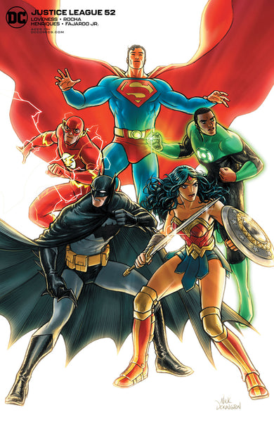 JUSTICE LEAGUE #52 CVR B NICK DERINGTON VAR