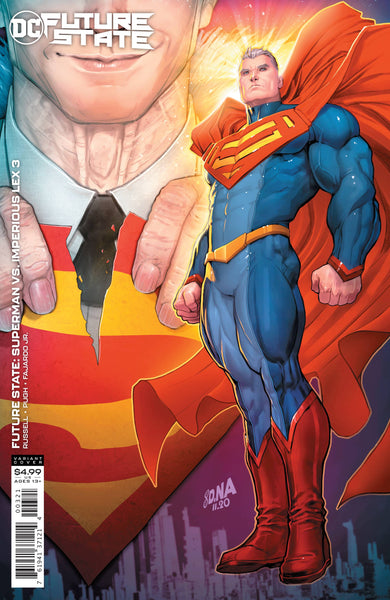 FUTURE STATE SUPERMAN VS IMPERIOUS LEX #3 CARDSTOCK VAR ED