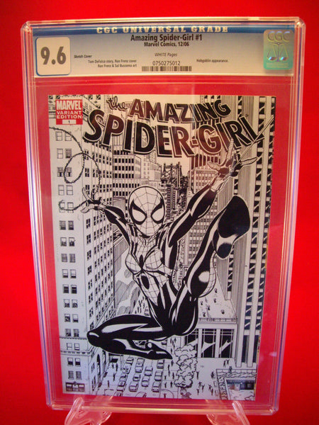 Amazing Spider-Girl #1 Frenz and Buscema Sketch Cover CGC 9.6 Marvel Comics