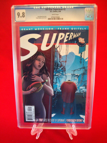 All Star Superman #2 Quitely Variant Cover CGC 9.8 DC Comics
