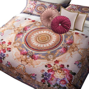 "Bohemian Versace Collection ""Roses on Lilac"" - Bohemian Glam Decor"
