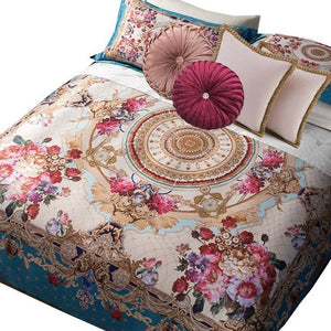 "Bohemian Versace Collection ""Roses on Teal"" - Bohemian Glam Decor"