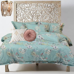 Cotton Rose Garden Collection ~ Powder Blue