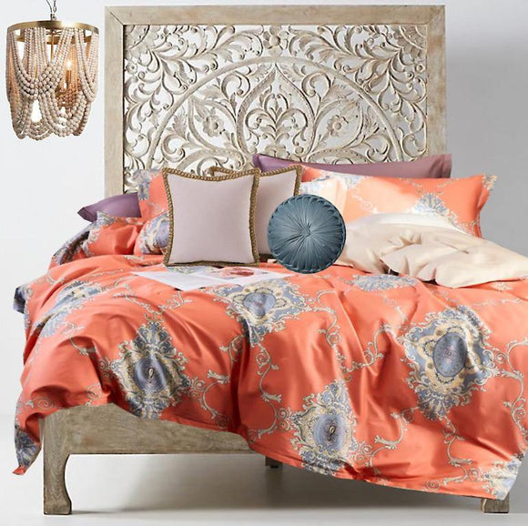 Boho Chic Coral Crushing - Bohemian Glam Decor