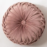 Round Velvet Pillow - Bohemian Glam Decor