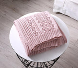 Light Weight Knit Patterned Throw - Bohemian Glam Decor