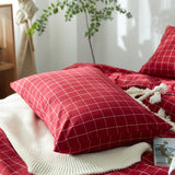 Washed Cotton Farm House Holiday Plaid