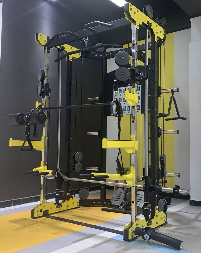 GYM Equipment Power Rack With Smith Machine / Functional Trainer Power Tec.