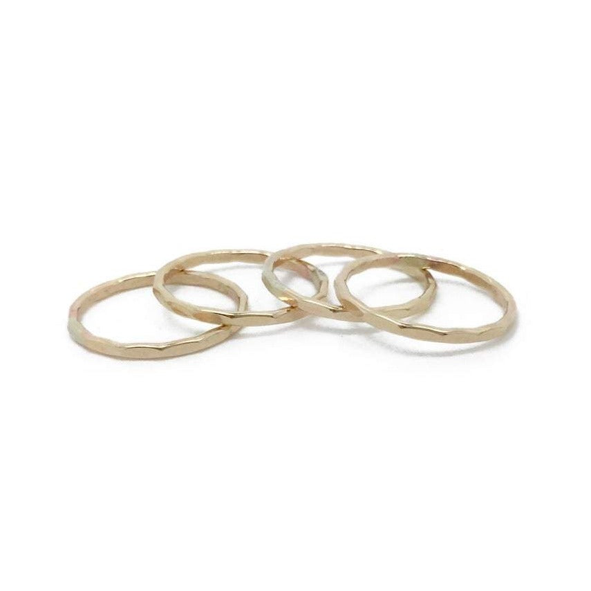 Gold Fill Hammered Stacker Ring