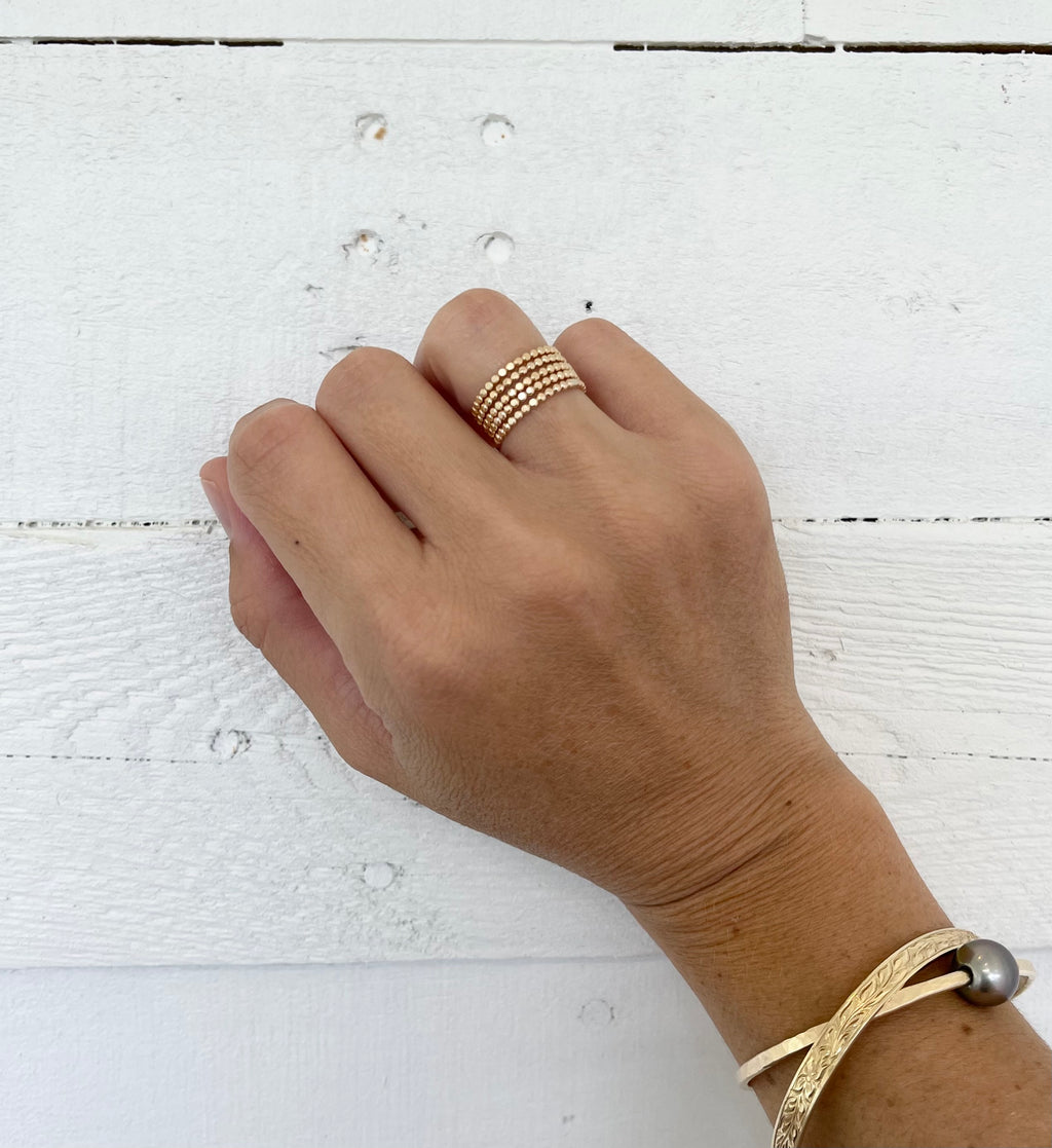 Gold Fill Bubble Stacker Ring