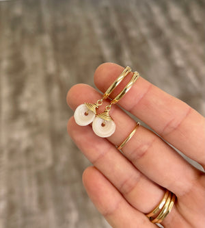 Gold Fill Puka Shell Hoops 18mm