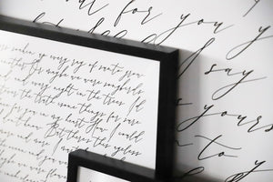 Black Custom Lyrics: Print