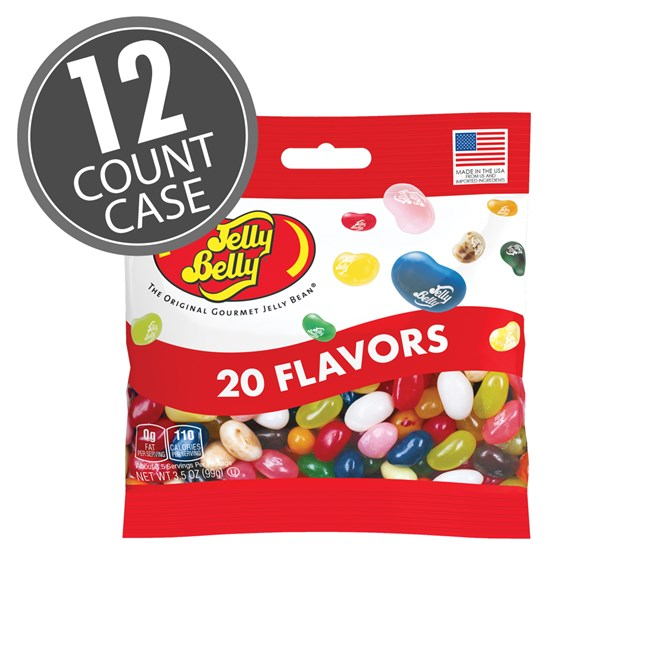 JELLY BELLY 20 ASSORTED FLAVORS 12 PACK 3.5OZ