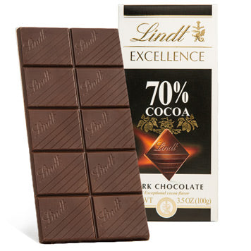 LINDT EXCELLENCE 70% 12PACK 3.5OZ