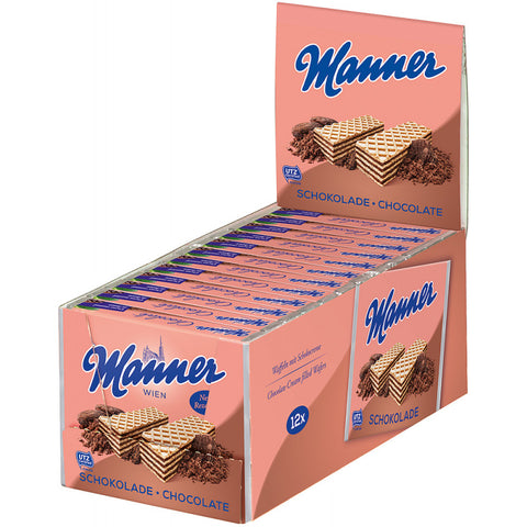 MANNER WAFERS CHOCOLATE 2.5 OZ 12 PACK