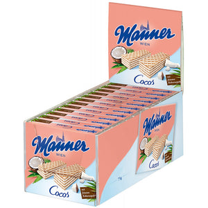 MANNER WAFERS COCONUT 2.25 OZ 12 PACK