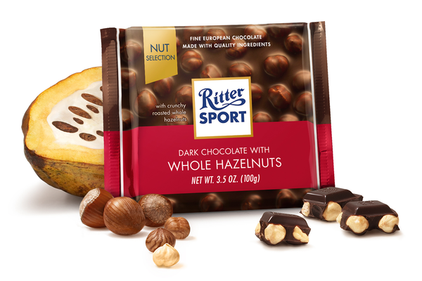 RITTER DARK WHOLE HAZELNUTS 12 PACK 3.5OZ