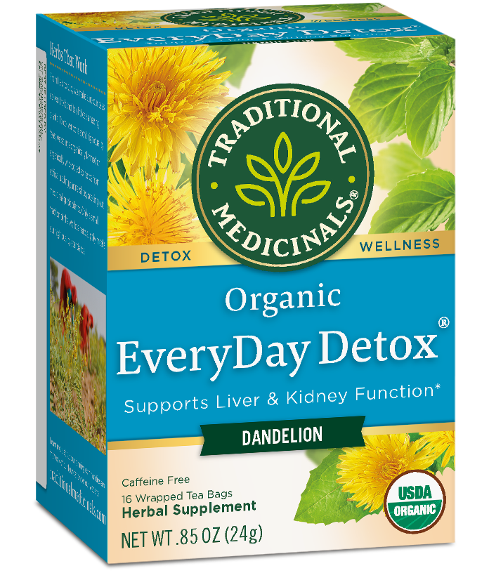 T.M TEA EVERYDAY DETOX DANDELION 6 PK X 16 TEA BAGS