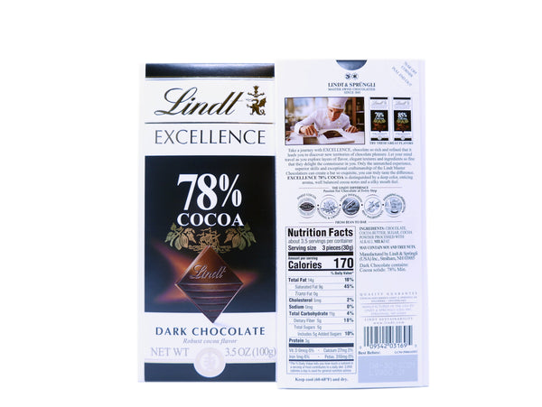 LINDT EXCELLENCE 78% 12PACK 3.5OZ