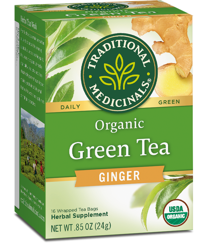 T.M GREEN TEA PEPPERMINT 6 PK X 16 TEA BAGS
