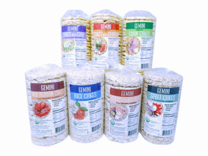 GEMINI ORGANIC RICE CAKES 12PACK 4.2OZ