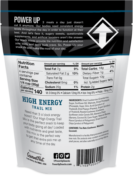 POWER UP HIGH ENERGY TRAIL MIX 12 PACK 4OZ