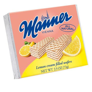 MANNER WAFERS LEMON 2.5 OZ 12 PACK