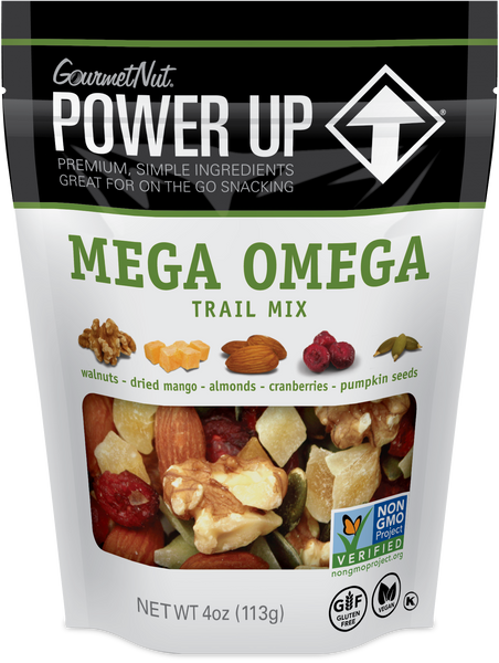 POWER UP MEGA OMEGA TRAIL MIX 12 PACK 4OZ