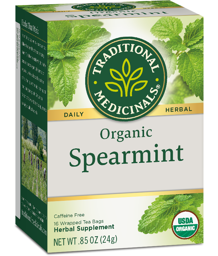 T.M TEA SPEARMINT 6 PK X 16 TEA BAGS