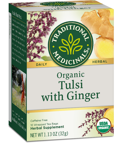 T.M TEA TULSI WITH GINGER 6 PK X 16 TEA BAGS