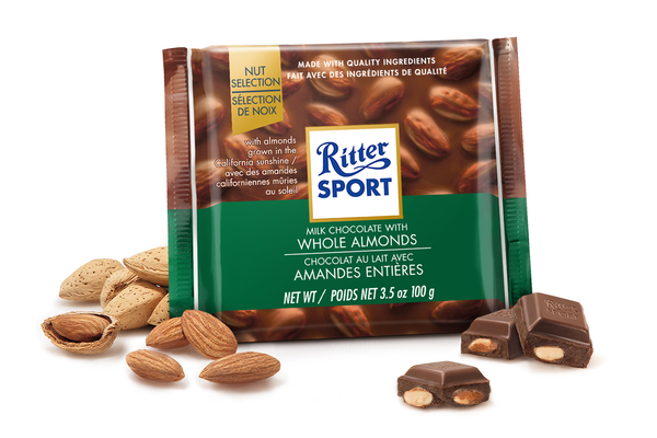 RITTER WHOLE ALMONDS 12 PACK 3.5OZ