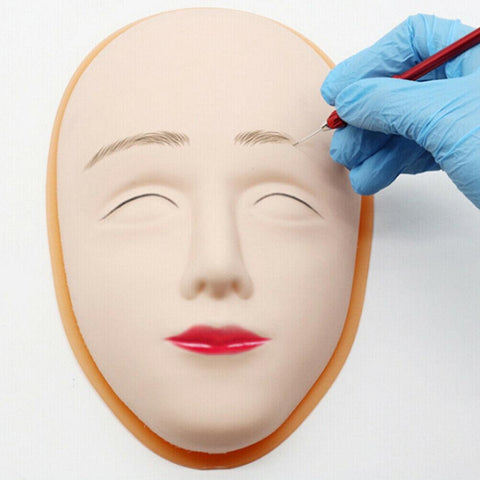 Plastic face form and 5 latex practise face skins - Ink & Arch Pro