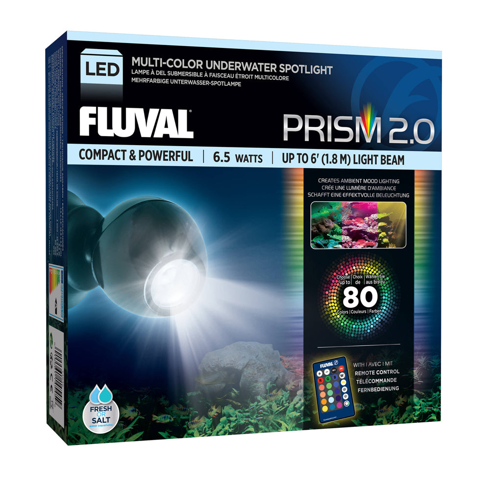 Fluval Aquarium Prism 2.0 Multi-Colour Underwater Spotlight LED