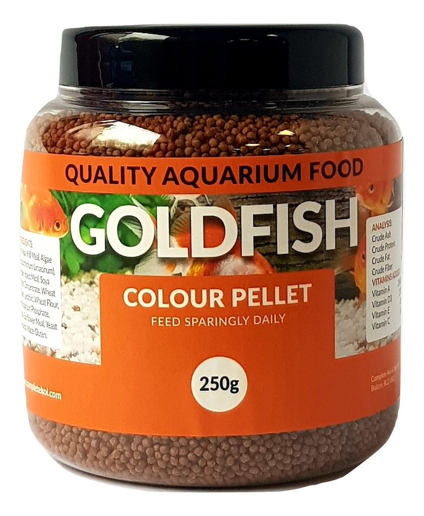 Goldfish Colour Pellet Aquarium Fish Food 75g, 150g, 250g
