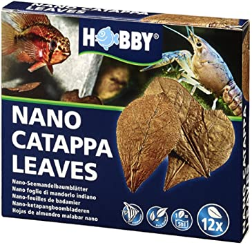 Hobby Aquarium Nano Catappa Leaves Pk12
