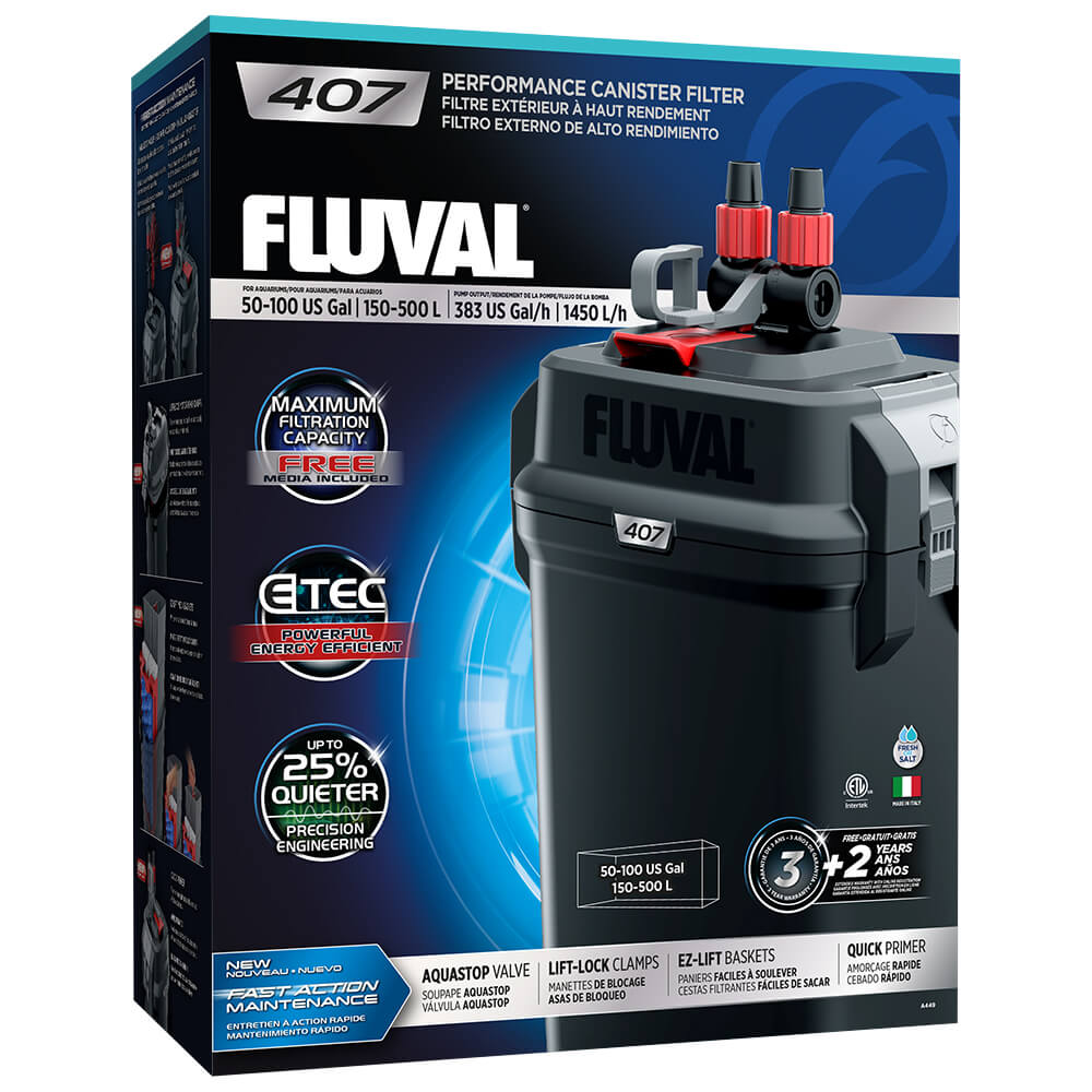 Fluval Aquarium External Filter 107, 207, 307, 407