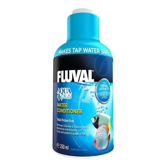 Fluval Aquarium Aquaplus Water Conditioner 120ml, 250ml, 500ml