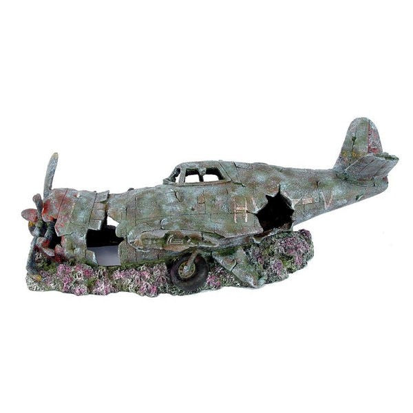 Betta Aquarium Small Plane Wreck Ornament