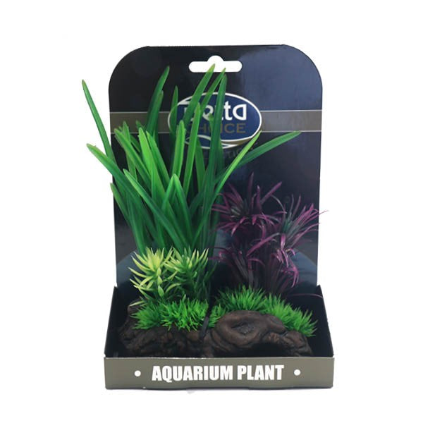 Betta Choice Aquarium Mini Air Gardens - Green & Purple