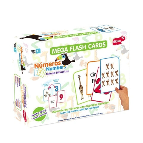 Mega flash cards números