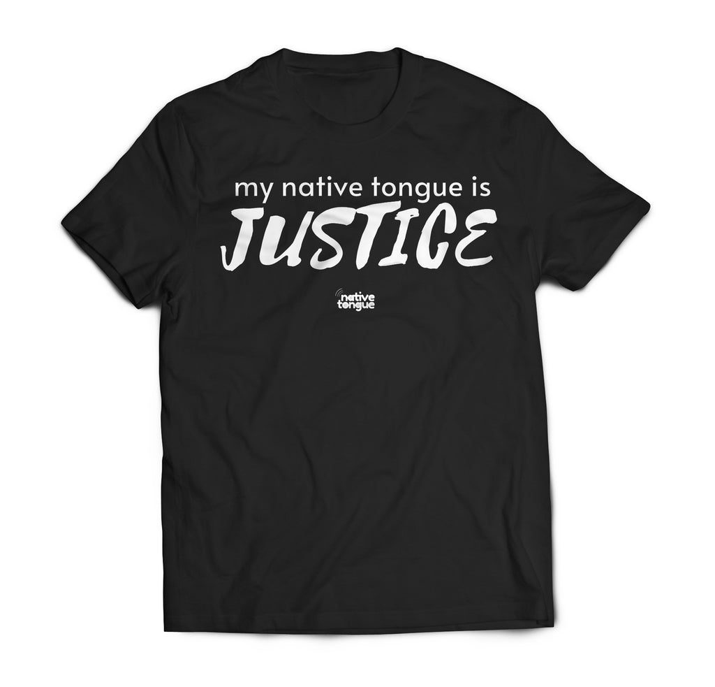 my native tongue is justice v-neck t-shirt