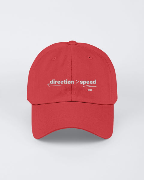 direction is greater than speed Dad hat