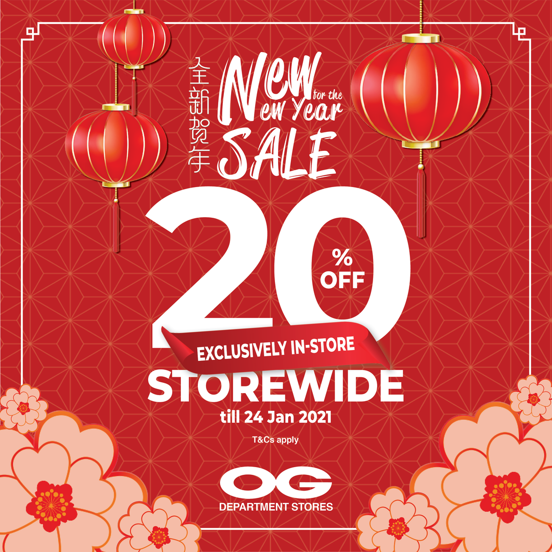 Catch up on your CNY Shopping NOW! Storewide 20% Off + Coupons 😁