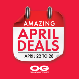 Amazing April Deals Up to 69% Off + Exciting Events at OG!