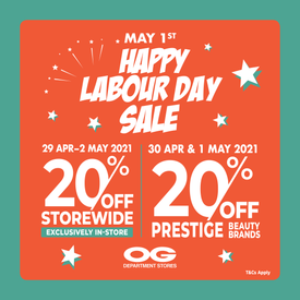 Labour Day Sale 💪 20% Off Storewide & 20% Off Prestige Beauty!