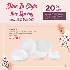 Dine In Style With Corelle Brands 🌼 20% Off Till 30 May!