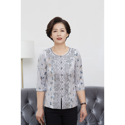 NINA Blouse - Grey
